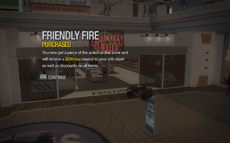 Friendly Fire in Rounds Square Shopping Center purchased in Saints Row 2
