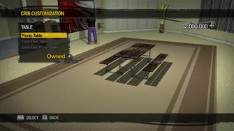 Saints Row Mega Condo - Crib Customization - Table - Picnic Table