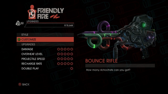 Weapon - Rifles - Bounce Rifle - Upgrades