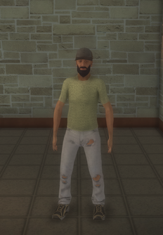 Bum - black generic hat - character model in Saints Row 2
