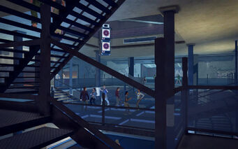 On Track in Saints Row 2 - mid level dance floor