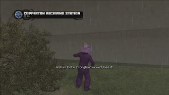 Copperton Receiving Station warning - leaving