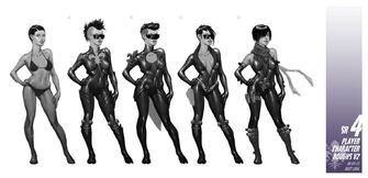 Playa - Saints Row IV Concept Art - 5 female versions