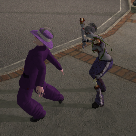 File:Zombie Lin using her arm as a Melee weapon.png