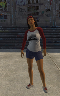 Los Carnales female Thug1-01 A - hispanic - character model in Saints Row