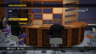 Saints Row Mega Condo - Crib Customization - Bar - Pimped Out Bar