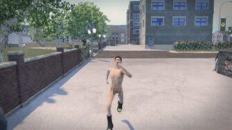 Streaking - Playa running towards camera in Saints Row 2
