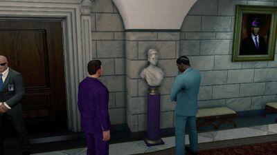 Bust of Shaundi in the White Crib