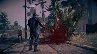 Combat in Saints Row IV - Super powerbomb - end