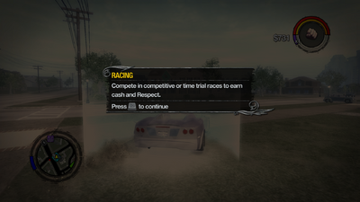 Racing tutorial in Saints Row 2