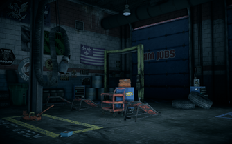 Saints Row IV - Rim Jobs interior - flag