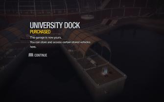 University Dock purchased