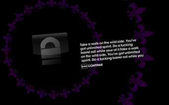 Unlockable default placeholder text in Saints Row The Third