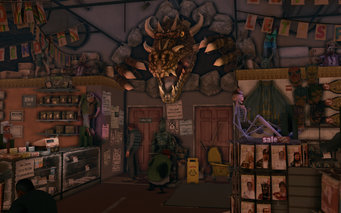 Let's Pretend - interior dragon in Saints Row The Third