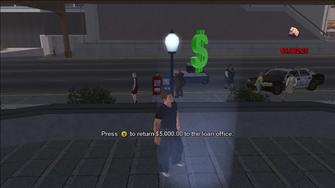 Loan Shark - returning 5000 dollars