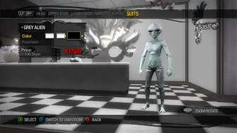 Suits - Grey Alien - recoloured white