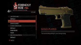 Weapon - Pistols - Heavy Pistol - .45 Fletcher - Gold-Plated