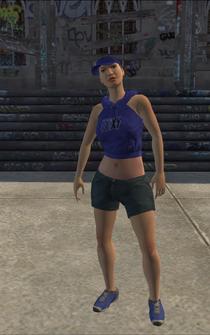 Westside Rollerz female Thug1-04 - white - character model in Saints Row