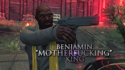 Benjamin Motherfucking King - Saints Row IV War for Humanity trailer