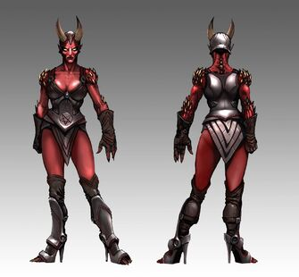 Female Demon Grunt Concept Art