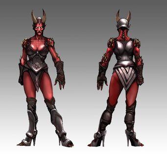 Female Demon Grunt Concept Art