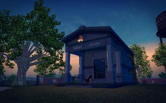 Mourning Woods Cemetery - Hawk mausoleum
