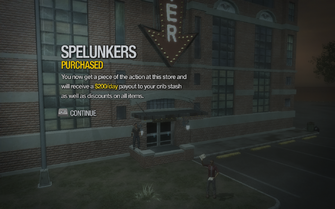 Spelunkers in Black Bottom purchased in Saints Row 2