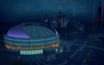 Ultor Dome in Saints Row 2 - aerial view