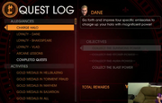 Gat out of Hell - Quest log