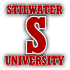 Saints Row 2 clothing logo - stilwater university 03 (white)