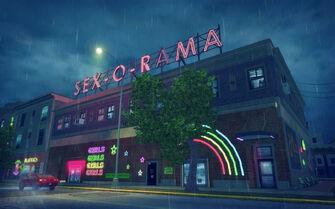 Bavogian Plaza in Saints Row 2 - Sex-O-Rama