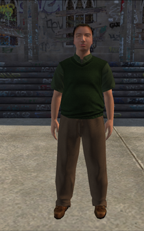 MiddleAge male 01b - asian - character model in Saints Row