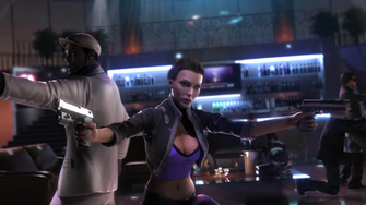 Shaundi in the Saints Row The Third Power CG trailer