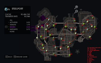 Side Quests - Stores map