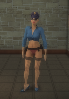 Stripper female - hispanic Cop - character model in Saints Row 2