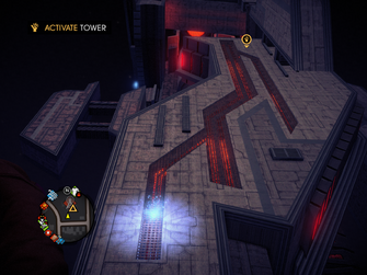 Saints Row IV Tower Diversion - Tower vertical running surface