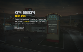 Semi Broken in Copperton purchased in Saints Row 2