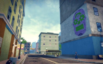 Ezpata in Saints Row 2 - skull mural