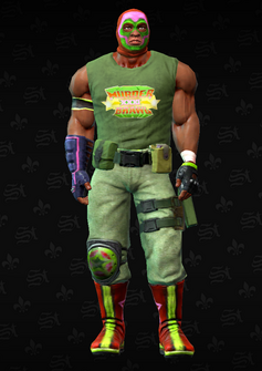 Luchador grunt 5 - Leroy - character model in Saints Row The Third
