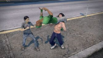 Sons of Samedi Fighting Style - during Hurricanrana
