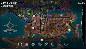 Cecil Park map in Saints Row