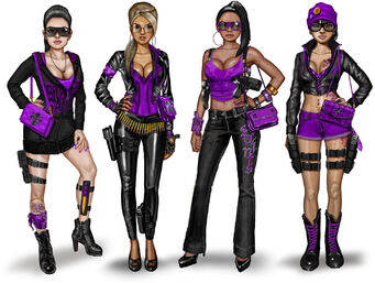 Gang Customization - Saints Row The Third Female Saints Concept Art