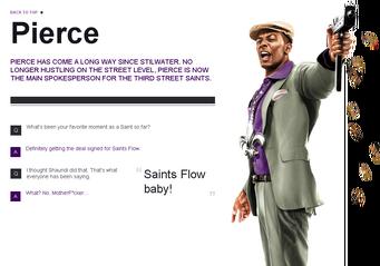 Saints Row website - Gangs - The Saints - Pierce