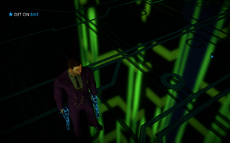 Cyber Blasters at rest during Miller-Space in Saints Row IV