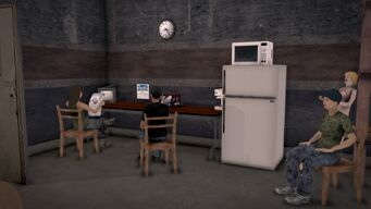 Donnie's - Interior in Saints Row 2 - storeroom kitchen area
