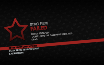 STAG Film failed - left Daedalus
