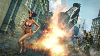 Luchadores, Peacemaker and Stripper in Saints Row The Third promo
