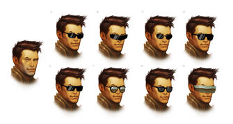 Playa - Saints Row IV Concept Art - 9 male heads