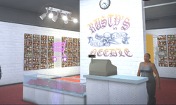 Rusty's Needle - unknown location - register and clerk in Saints Row 2