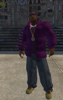 Saints male KillaC - black - character model in Saints Row